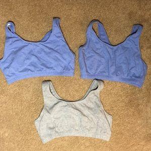3 pre teen sports bras.